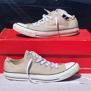 Converse chuck taylor all star white tan low tops